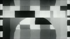 TV Test starting transmission, Black and White - stock footage