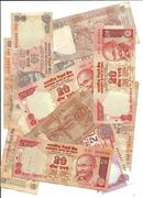 international currency -indian rupee notes - stock photo