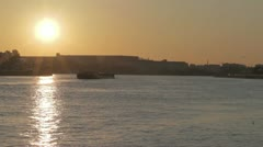 Sunrise in saint petersburg Stock Footage