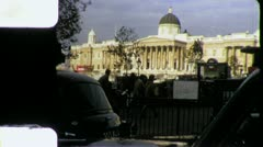 Trafalgar Square LONDON Street England 1970s Vintage Film Home Movie 4283 - stock footage