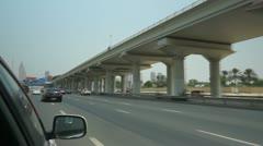 Sheikh Zayed Fahrt fast Motion  50p Stock Footage