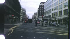 Holborn District LONDON Street CENTRAL 1970s Vintage Film Home Movie 4287 Stock Footage