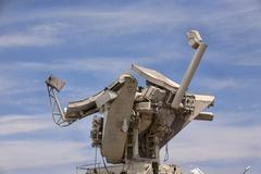 Soviet surface to air fire control radar - stock photo
