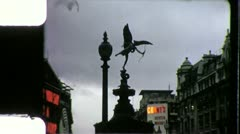 LONDON Piccadilly Circus England UK Square 1970s Vintage Film Home Movie 4290 - stock footage