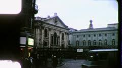 Trafalgar Square LONDON Street England 1970s Vintage Film Home Movie 4292 - stock footage