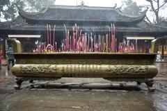 temple incense burner - stock photo