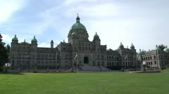 Victoria, BC Legislature wide shot Stock Footage