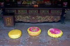 cushion temple - stock photo
