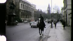 BIG BEN Tower LONDON Street Scene 1970s (Vintage Film Home Movie) 4294 - stock footage