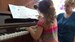 Piano lesson Stock Footage