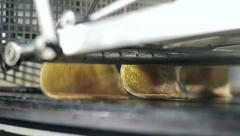 Conveyor for production of pancakes 2 Stock Footage