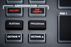 Midi keyboard part Stock Photos