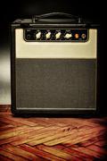 Vintage guitar amplifier Stock Photos