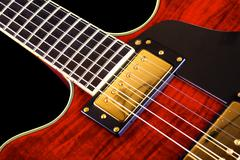 red electric guitar - stock photo