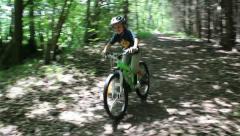 Child biking Stock Footage