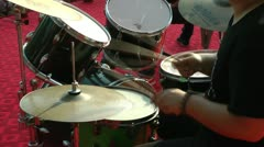 Drums performers Stock Footage
