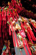 chinese traditional sachet, new year's mascot, clifford - stock photo