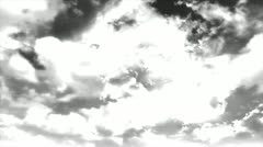 Sky with clouds gray color 8 Stock Footage