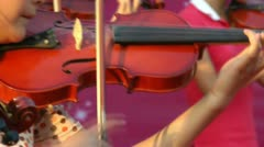 Girl playing the violin - stock footage
