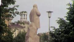 LENIN STATUE Park Soviet Union USSR 1970s Vintage Film Home Movie 4307 Stock Footage
