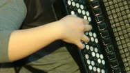 Girl play the accordion Stock Footage