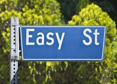 Easy street with leafy background Stock Photos