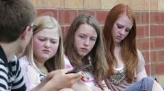 Friends outside of school Stock Footage
