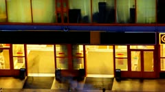 entrance to the supermarket - stock footage