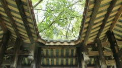 The roof of the Chinese traditional pavilion - stock footage