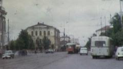 STALINIST Soviet Union STREET SCENE City USSR 1970s Vintage Film Home Movie 4312 - stock footage