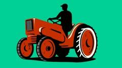 Vintage bulldozer tractor retro Stock Footage