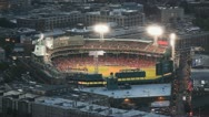Stock Video Footage of Red Sox Baseball Stadium Fenway Park At Night