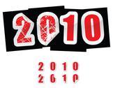 2012 new year greetings Stock Illustration