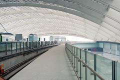 beijing airport terminal, fast-iron site - stock photo