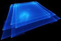 Translucent blue plate Stock Illustration