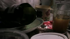 Rat walks across dirty kitchen - stock footage