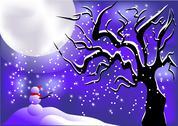Winter night sky Stock Illustration