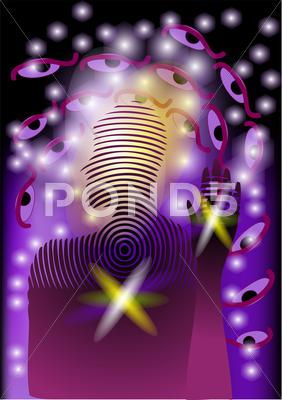 Stock Illustration of abstract aura