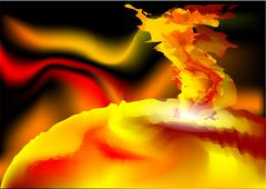 sunlight flare - stock illustration