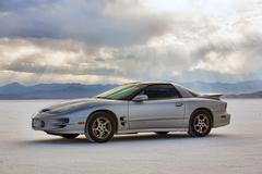 Pontiac Trans Am sports car on Bonneville Salt Flats Stock Photos