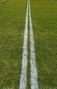 Boundary lines of a playing field - stock photo