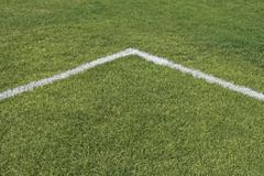 Corner lines of a playing field Stock Photos