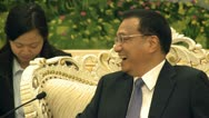 Li Keqiang vice Premier of the People's Republic of China Stock Footage