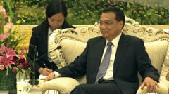 Li Keqiang vice Premier of the People's Republic of China - stock footage