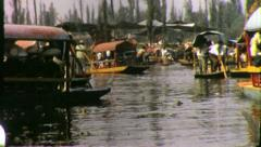XOCHIMILCO Canals Boats Mexico City 1960s (Vintage Retro Film Home Movie) 4338 Stock Footage