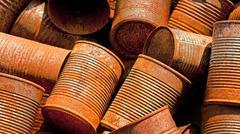 Rusty Tin Cans Stock Photos