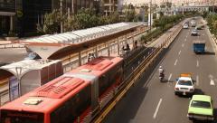 Bus stop in Tehran, Iran Stock Footage