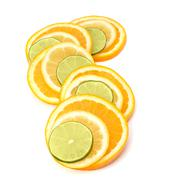 Citrus fruit slices Stock Photos