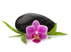Stock Photo of spa and healthcare concept. orchid and stones.