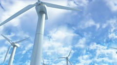 WindTurbines - stock footage